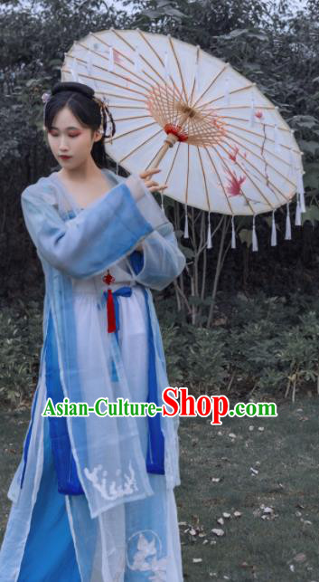 Traditional Chinese Ancient Song Dynasty Young Lady Historical Costume Complete Set for Women