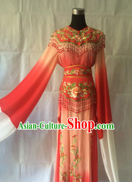 Traditional Chinese Beijing Opera Costume Ancient Princess Red Hanfu Dress for Women