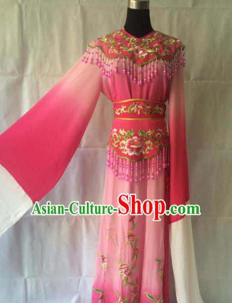 Traditional Chinese Beijing Opera Costume Ancient Princess Pink Hanfu Dress for Women