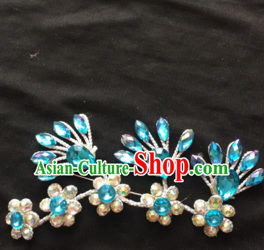 Asian Chinese Beijing Opera Jewelry Accessories Stage Performance Brooch for Women