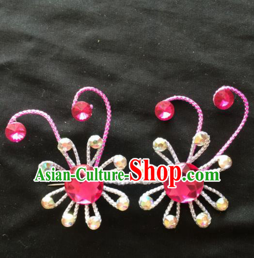 Asian Chinese Beijing Opera Jewelry Accessories Stage Performance Flowers Brooch for Women