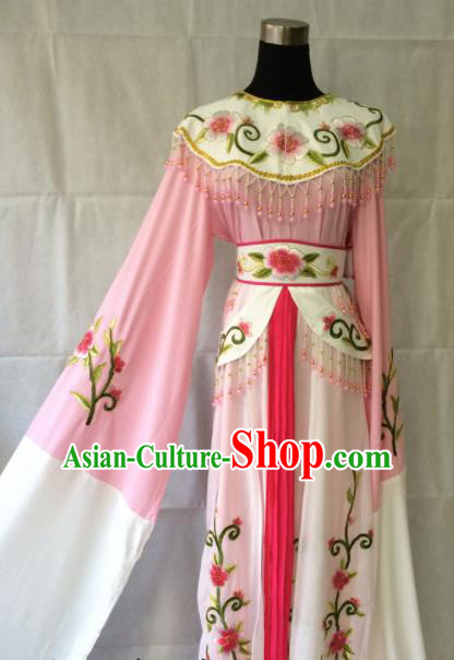 Traditional Chinese Beijing Opera Diva Peri Costume Ancient Princess Pink Hanfu Dress for Women