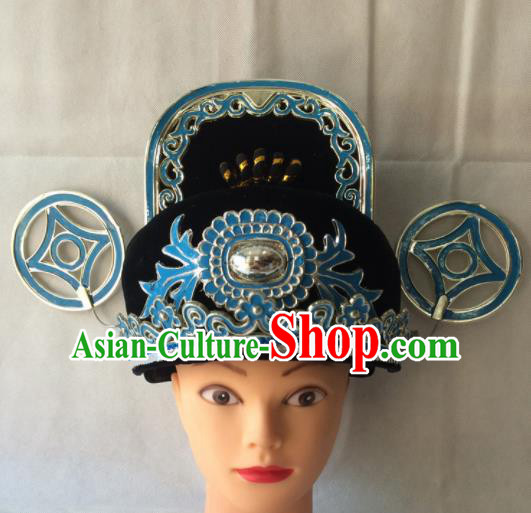 Asian Chinese Beijing Opera Niche Headwear Ancient Magistrate Hat for Men