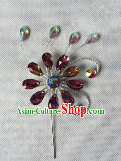 Asian Chinese Beijing Opera Hair Accessories Ancient Princess Hairpins Hair Clip for Women