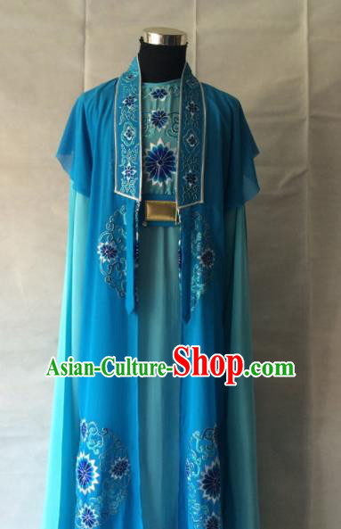 Traditional Chinese Beijing Opera Niche Costume Peking Opera Blue Clothing