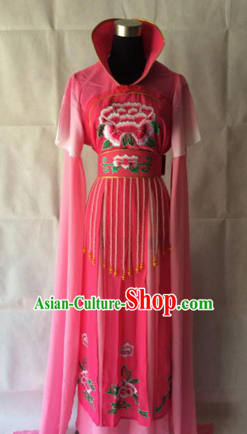 Traditional Chinese Beijing Opera Court Miad Costume Ancient Peri Rosy Dress for Women