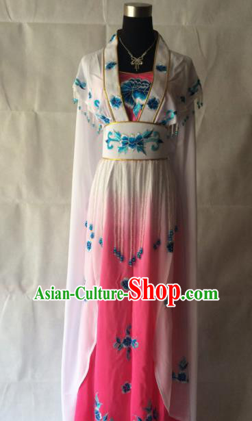 Traditional Chinese Beijing Opera Princess Costume Ancient Peri Pink Dress for Women