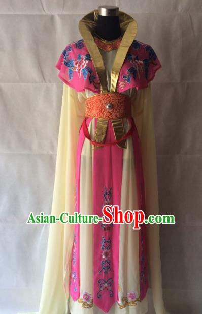 Traditional Chinese Beijing Opera Diva Costume Ancient Imperial Concubine Rosy Dress for Women