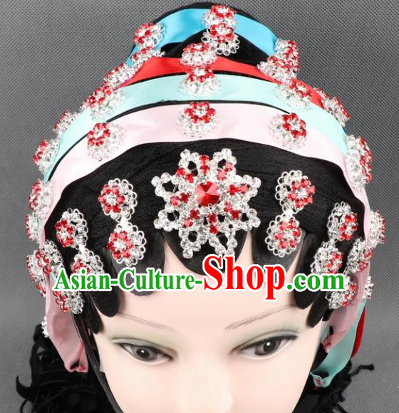 Asian Chinese Beijing Opera Diva Hair Accessories Ancient Princess Crystal Hairpins Headband for Women