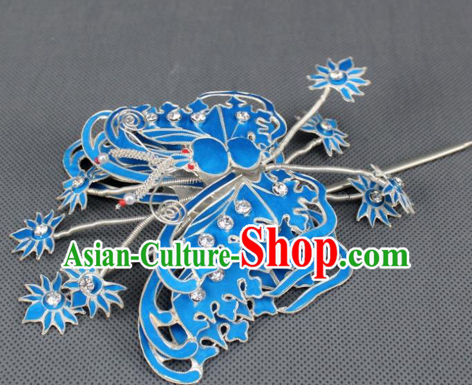 Asian Chinese Beijing Opera Princess Hair Accessories Ancient Butterfly Hairpins for Women