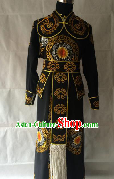 Traditional Chinese Beijing Opera Takefu Costume Peking Opera General Black Clothing