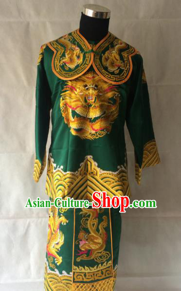 Traditional Chinese Beijing Opera Takefu Costume Peking Opera General Green Clothing