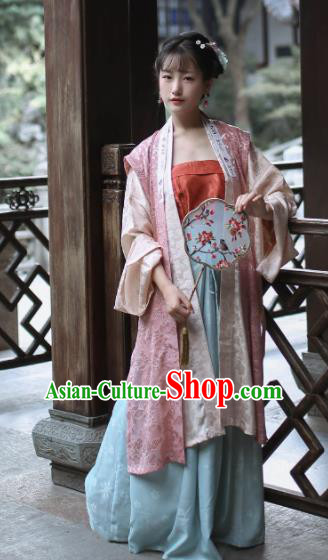 Traditional Chinese Ancient Song Dynasty Nobility Lady Historical Costume Complete Set for Women