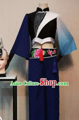 Asian Chinese Traditional Folk Dance Costume National Dance Clothing for Women