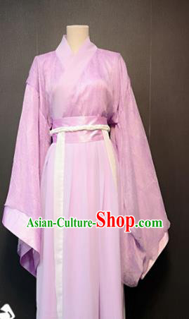 Traditional Chinese Ancient Drama Han Dynasty Princess Costume Pink Hanfu Dress for Women