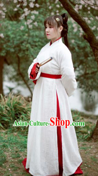 Traditional Chinese Ancient Hanfu Dress Jin Dynasty Swordswoman Historical Costume Complete Set for Women