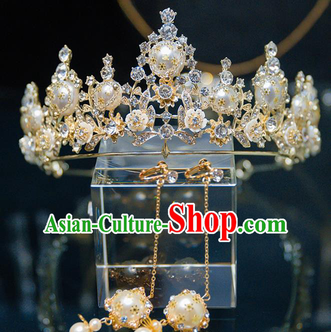 Handmade Wedding Bride Hair Accessories Baroque Princess Luxury Royal Crown for Women