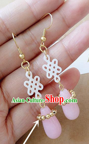 Chinese Ancient Hanfu Jewelry Accessories Traditional Palace Earrings for Women