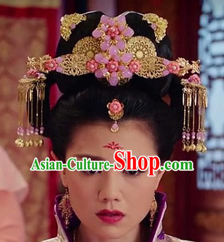 Chinese Ancient Beyond The Realm Of Conscience Queen Hair Accessories Traditional Hanfu Palace Phoenix Coronet Hairpins for Women
