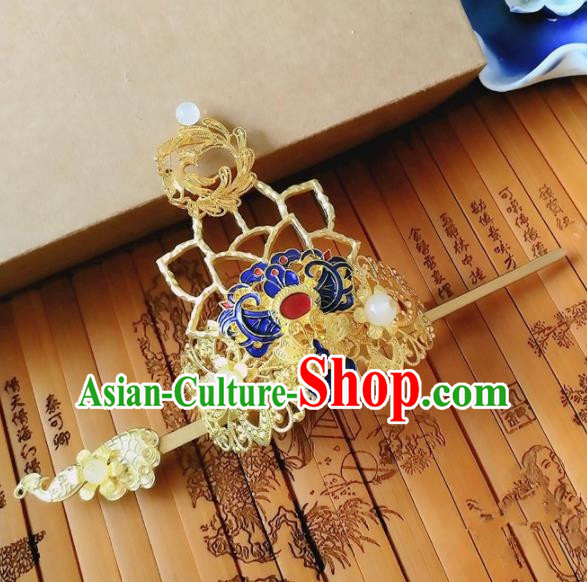 Chinese Ancient Queen Hair Accessories Traditional Hanfu Palace Hair Crown Hairpins for Women