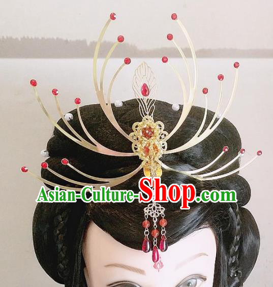Chinese Ancient Queen Hair Accessories Traditional Hanfu Phoenix Coronet Hairpins for Women