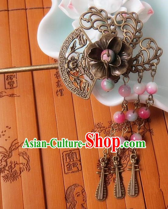 Chinese Ancient Hair Accessories Tassel Hairpins Traditional Hanfu Palace Hair Clip for Women