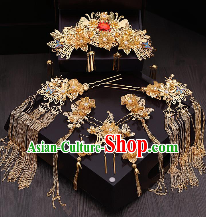 Chinese Ancient Hair Accessories Wedding Tassel Step Shake Hairpins Traditional Hair Clip for Women