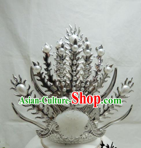 Chinese Ancient Swordsman Hair Accessories Traditional Hair Crown for Men