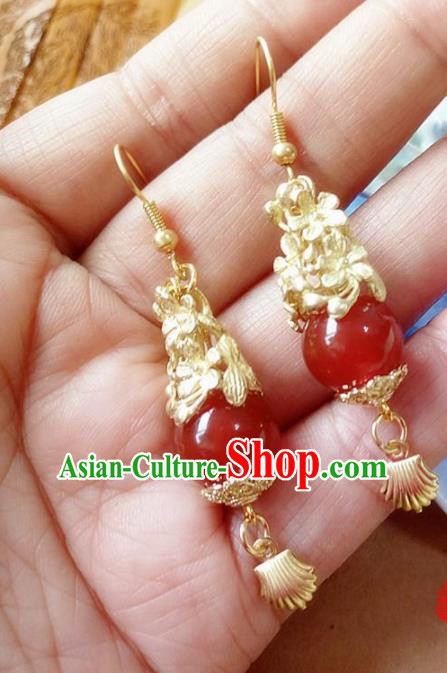 Chinese Ancient Hanfu Jewelry Accessories Traditional Palace Princess Earrings for Women