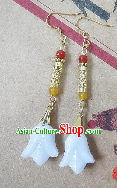 Chinese Ancient Princess Jewelry Accessories Traditional Hanfu Shell Earrings for Women