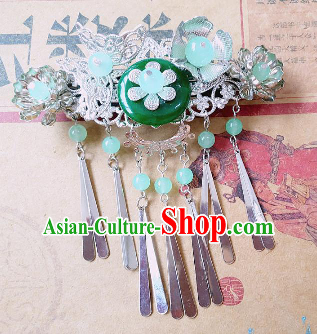 Chinese Ancient Princess Hair Accessories Traditional Hanfu Jade Hair Claw Hairpins for Women