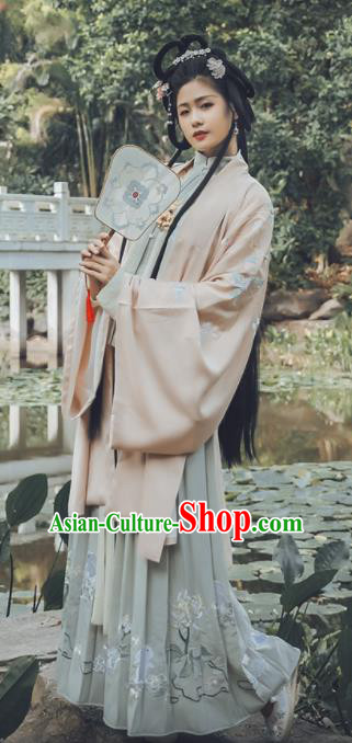 Traditional Chinese Ming Dynasty Aristocratic Lady Replica Costumes Ancient Drama Princess Hanfu Dress for Women