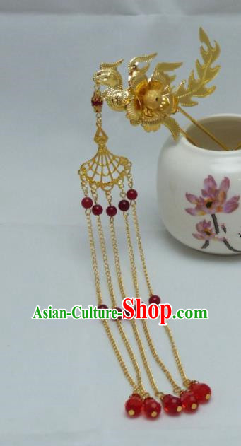 Chinese Ancient Qing Dynasty Queen Hair Accessories Traditional Palace Phoenix Hairpins for Women