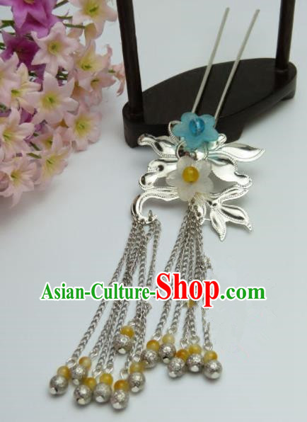 Chinese Traditional Palace Tassel Hairpins Ancient Han Dynasty Princess Hair Accessories for Women