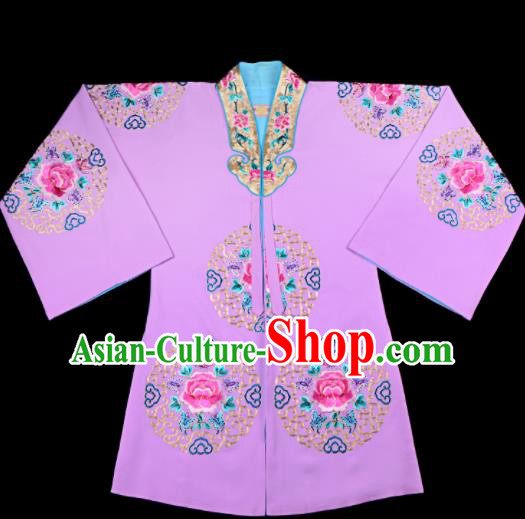 Professional Chinese Traditional Beijing Opera Costume Peking Opera Aristocratic Lady Lilac Cloak for Adults