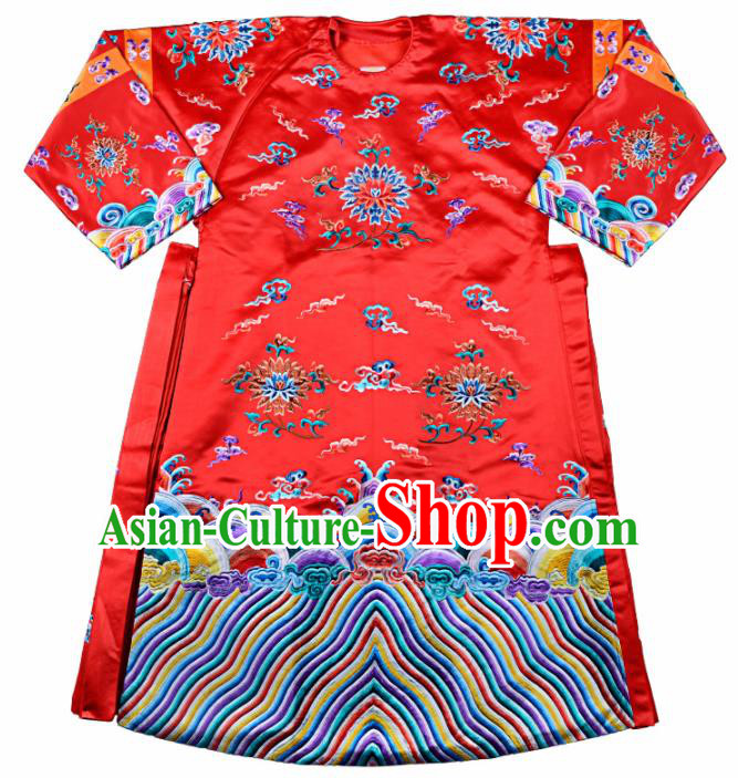 Professional Chinese Traditional Beijing Opera Queen Costume Ancient Qing Dynasty Empress Dress for Adults