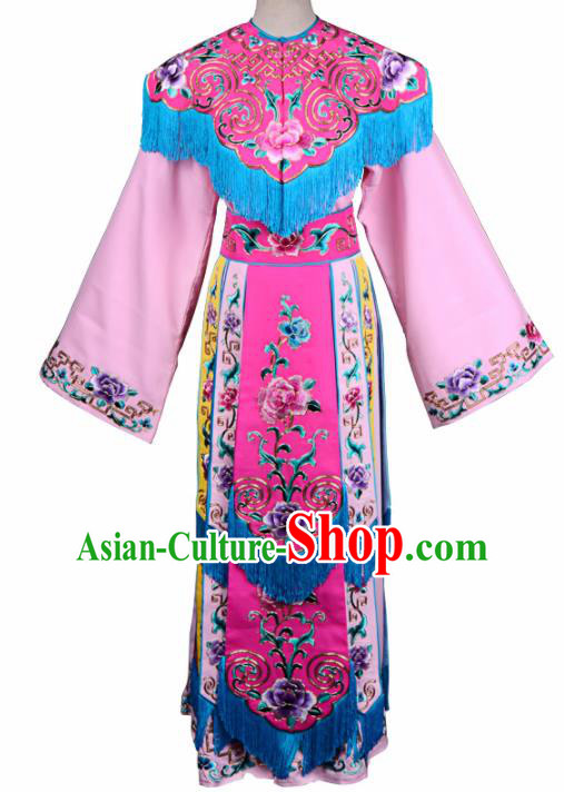 Professional Chinese Traditional Beijing Opera Princess Costume Ancient Peri Embroidered Dress for Adults