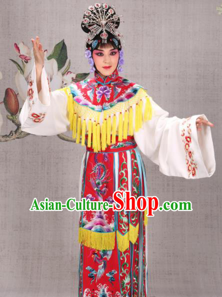 Professional Chinese Traditional Beijing Opera Actress Costume Ancient Princess Red Dress for Adults
