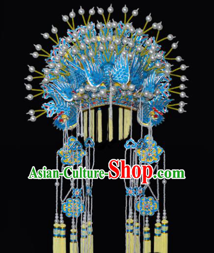 Chinese Beijing Opera Hair Accessories Ancient Princess Phoenix Coronet for Women