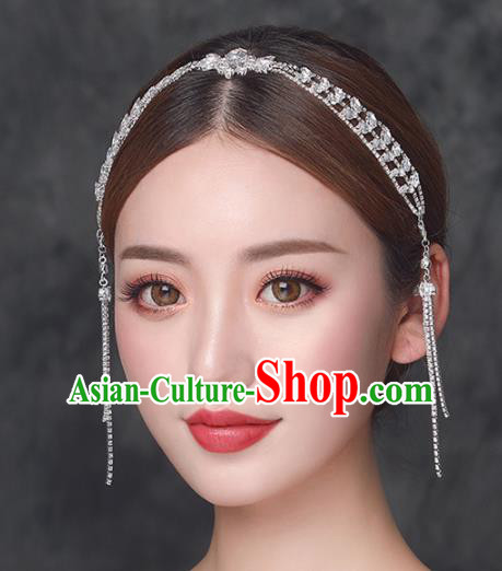 Top Grade Handmade Wedding Hair Clasp Bride Zircon Hair Accessories for Women