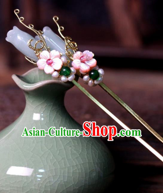 Chinese Ancient Palace Mangnolia Hairpins Traditional Hair Accessories Headdress for Women
