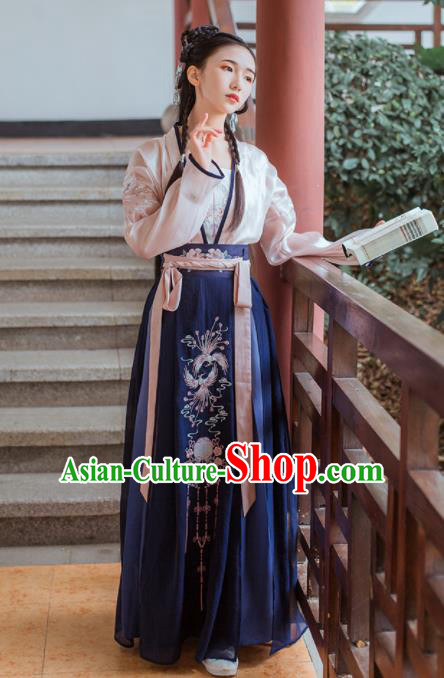 Chinese Traditional Tang Dynasty Nobility Lady Historical Costume Ancient Swordswoman Hanfu Dress for Women