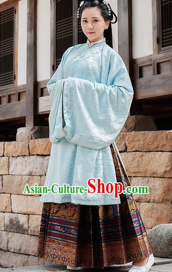 Chinese Traditional Ming Dynasty Palace Lady Historical Costume Ancient Princess Hanfu Dress for Women