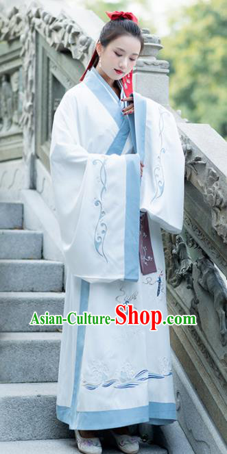 Traditional Chinese Ancient Jin Dynasty Swordswomen Female Knight Embroidered Replica Costume for Women