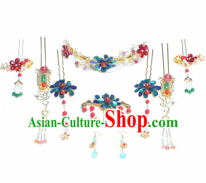 Top Grade Chinese Ancient Bride Wedding Hair Clasp Hairpins Traditional Hair Accessories Headdress for Women