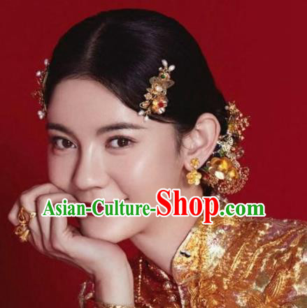 Top Grade Chinese Ancient Bride Wedding Hairpins Traditional Hair Accessories Headdress for Women