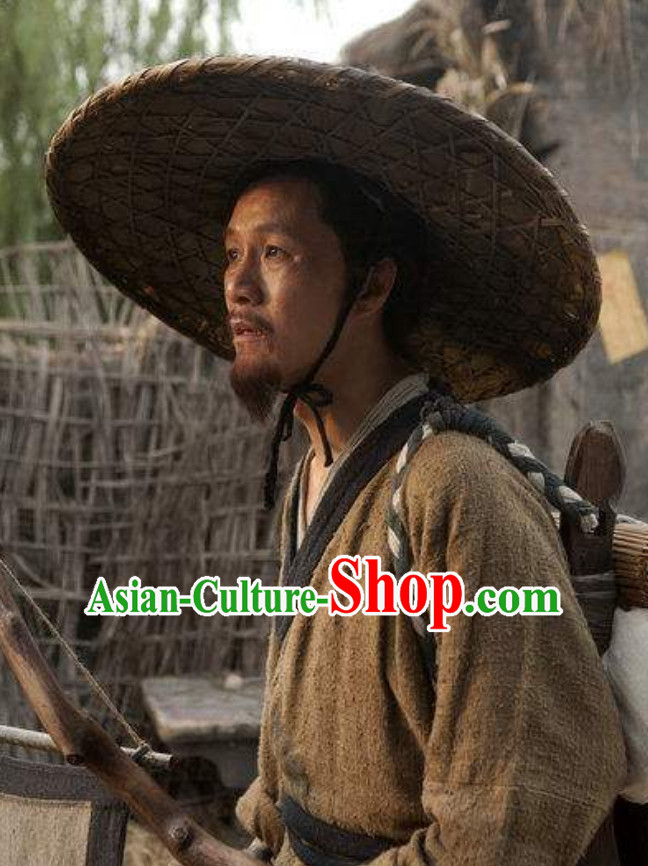 Handmade Ancient Chinese Doctor Bamboo Hat