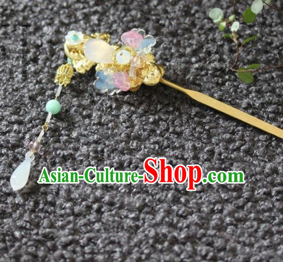 Handmade Chinese Ancient Tassel Hair Clips Hairpins Traditional Hair Accessories Headdress for Women