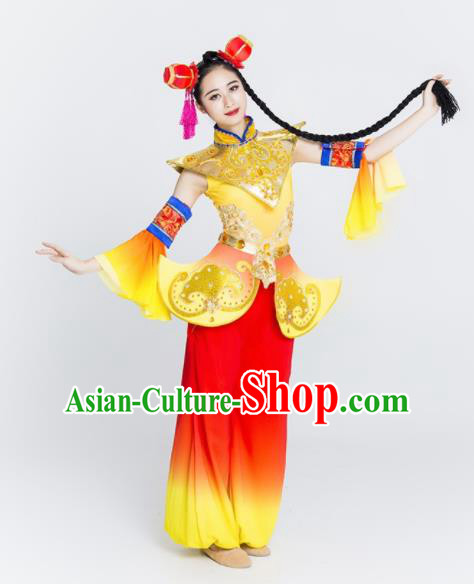 Chinese Traditional National Yangko Dance Clothing Folk Dance Drum Dance Costume for Women