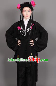 Chinese Traditional Peking Opera Clown Black Clothing Classical Beijing Opera Attendants Costume for Men